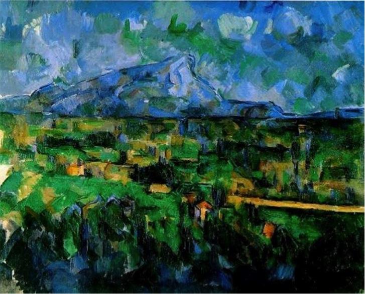 Paul Cézanne 1904-1906. Monte Saint-Victoire. Óleo sobre lienzo. 66 x 81,5 cm. Museo arte Basilea. Suiza