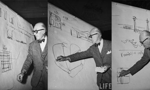 Charla de Le Corbusier. Imagen extraída del blog propuestas in_consultas