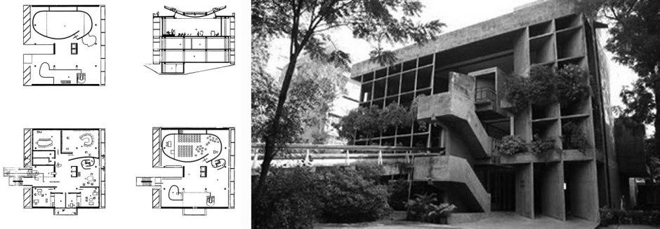 Palacio de la  Asociación de Hilanderos, Ahmedabad. 1954