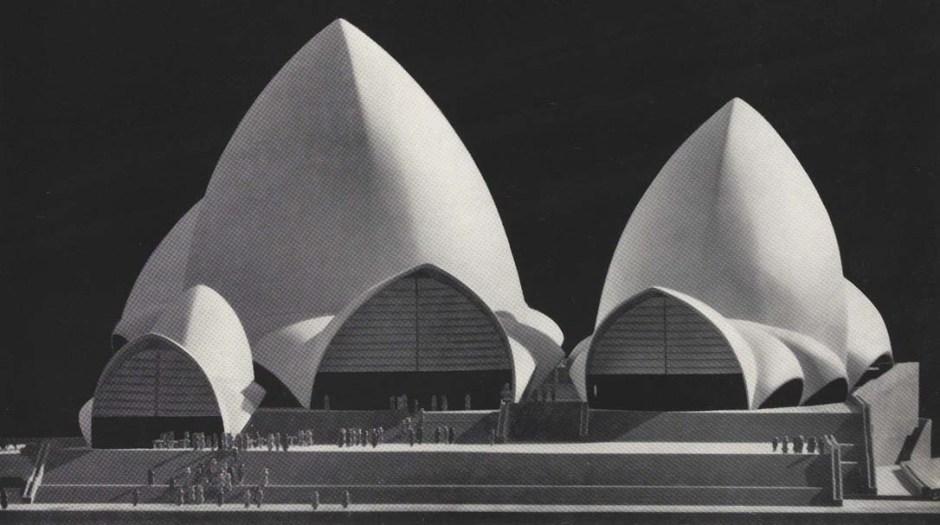Detalle de maqueta incluida en la memoria del Red Book. 1958. Fuente: NSW Government