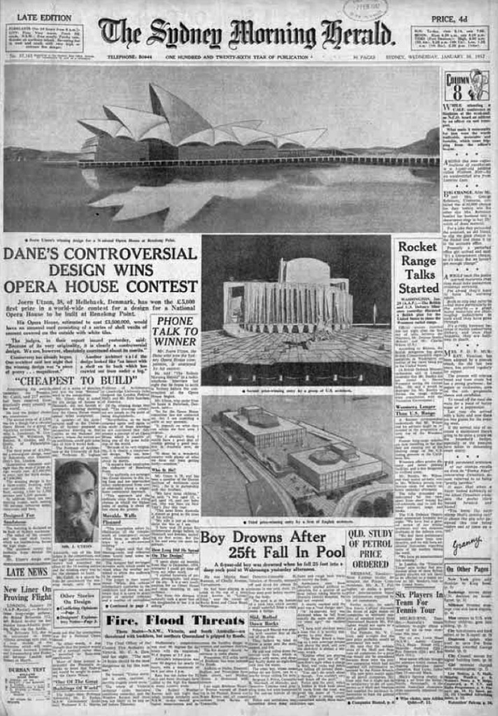 The Sydney Morning Herald. 30 enero de 1957