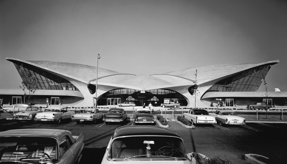 Terminal de las aerolíneas Trans WorldTWA T(actual JFK) New York, 1962. Fuente: Yosi Milo Gallery