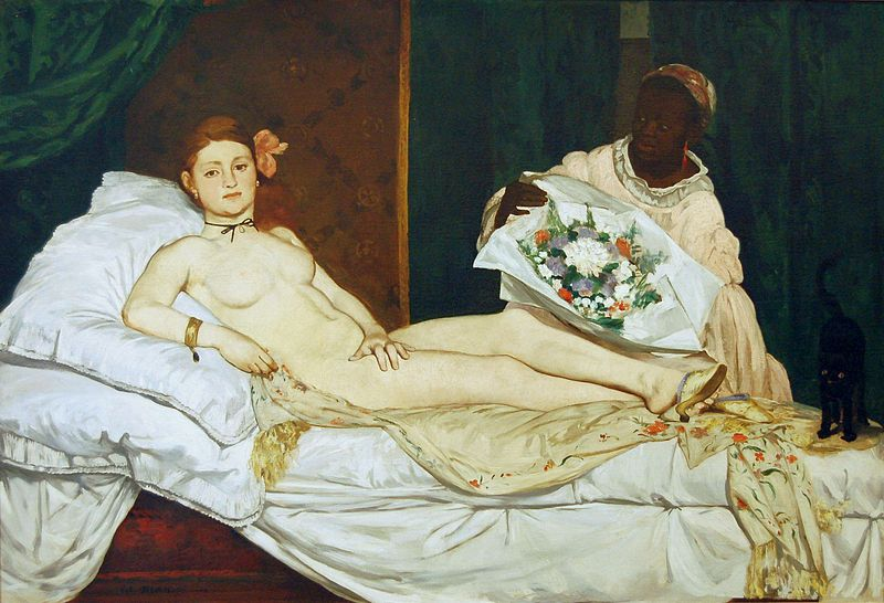 Edouard Manet, Olympia. 1863. Fuente Wikimedia Commons