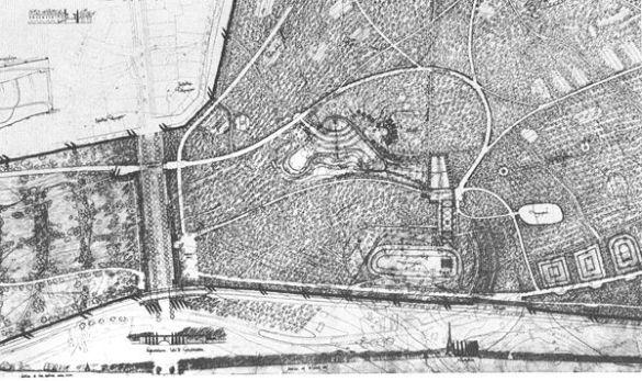 Detalle propuesta Asplund/Lewerentz Cementerio del Bosque. Fuente: Urbipedia