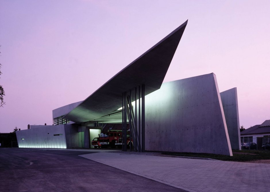 Vitra Fire Station. Weil am Rhein, 1990-93. Fuente: Zaha Hadid Architects