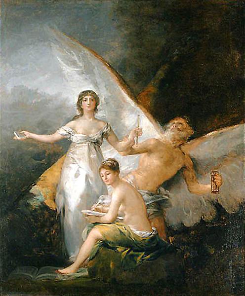 Francisco de Goya, La verdad, el tiempo y la historia. 1797-1800. Fuente: Wikimedia Commons