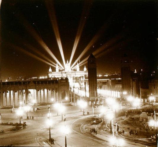Marcel·lí Gausachs, fot. Vista panorámica del recinto de la Exposición. Fuente: Wikimedia Commons