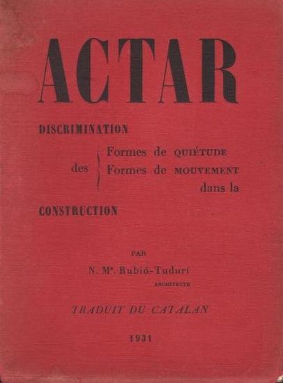 Edición francesa de Actar, París, 1931.