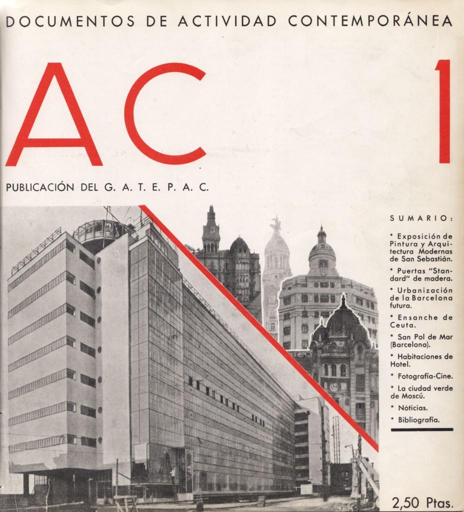 Portada revista AC Documentos de Actividad Contemporánea, nº 1, en-marz 1931.