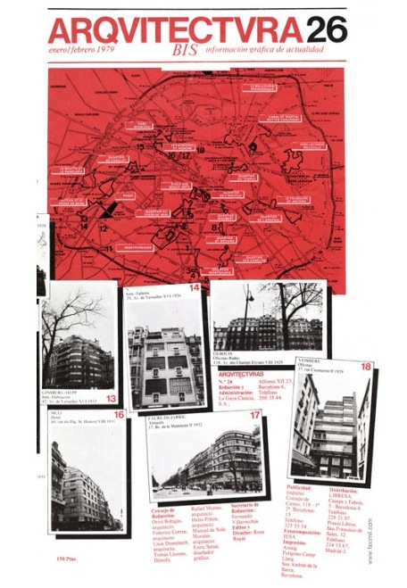 Portada del número 26 de la revista Arquitectura Bis, enero-febrero 1979