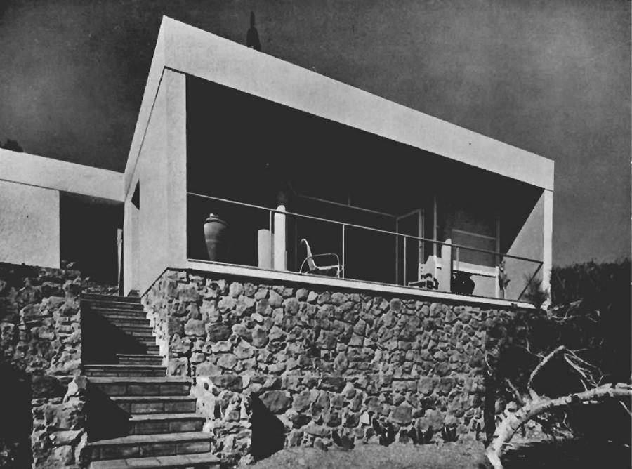Josep Lluis Sert. Vivienda tipo A, de fin de semana en Garraf, 1934. Fuente: Urbipedia