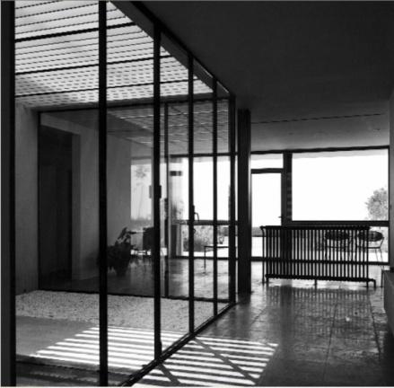 Josep M. Sostres. Interior casa Moratiel, 1955-57. Fuente: Wikiarquitectura