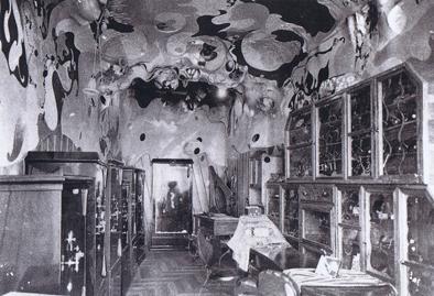 Interior tienda Mañach, 1911, J.M. Jujol. Imagen extraída de José Llinás/Jordi Sardà, Jujol, Köln, Taschen, p. 43.