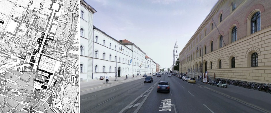 Planta i aspecte actual Ludwigstrasse, Munic.